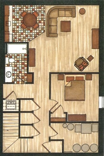 Cottage #1 Floor Plan