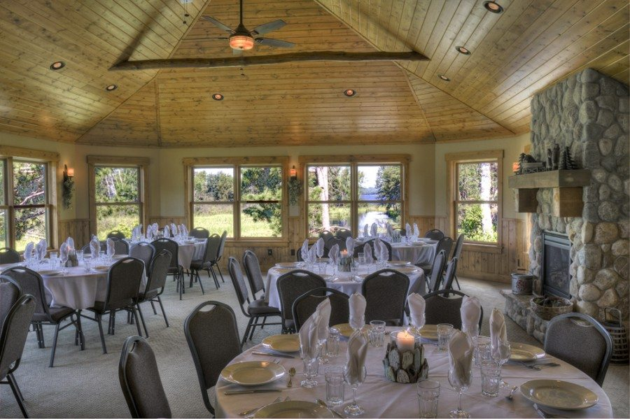 Banquet hall at Boyd Lodge