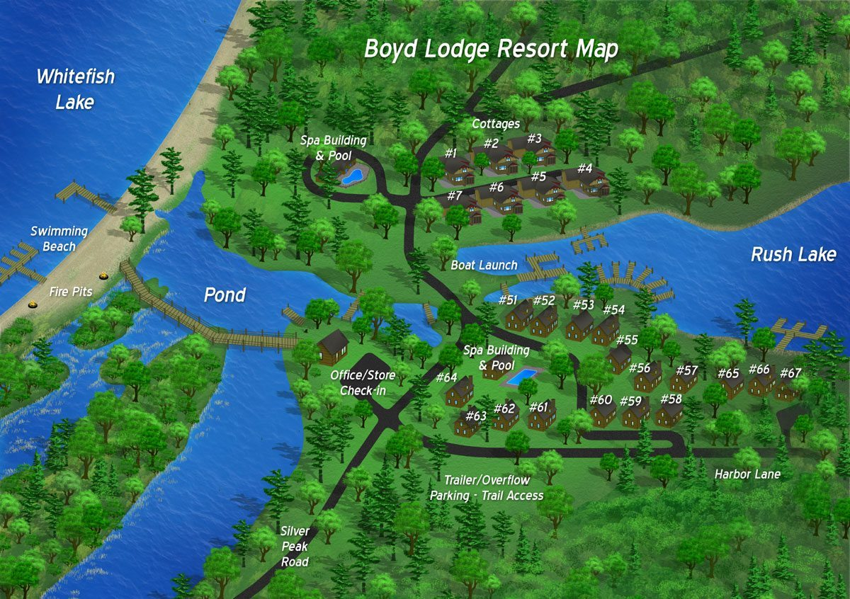 Boyd Lodge Resort Layout Resort Map Click On Cabins